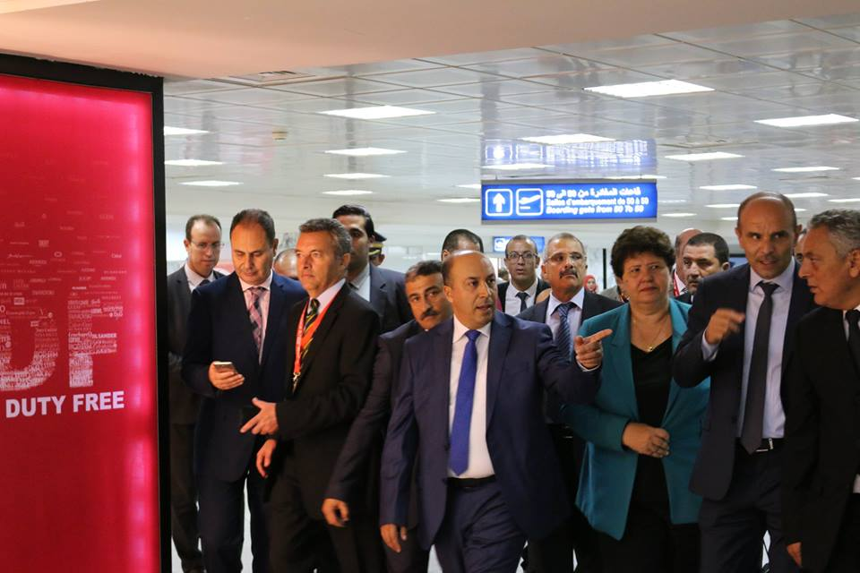 visite d'inspection à l'aéroport Tunis-Carthage